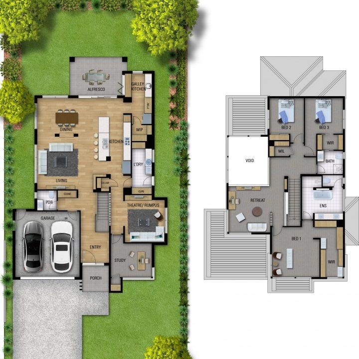 Imperio Quattro designer home floorplan